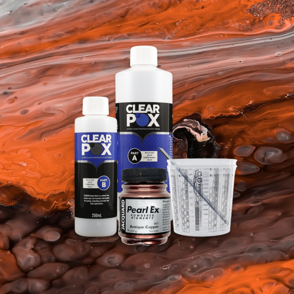 ClearPox Ultra Clear Industrial Epoxy Resin - Antique Copper Kit
