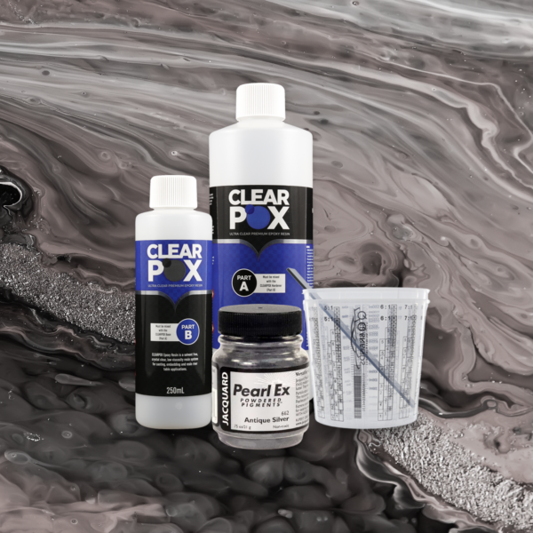 ClearPox Ultra Clear Industrial Epoxy Resin - Antique Silver Kit